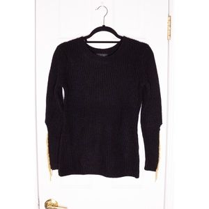 NWT Women FAB'RIK Chain Sweater Gold Anthropologie